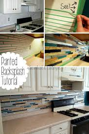 How To Tile Backsplash Kitchen How To Paint A Backsplash To Look Like Tile