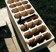 simple wine rack ideas wine rack idea simple diy wine rack plans