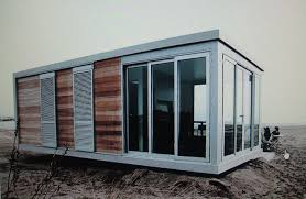 small grey and brown prefab shipping container homes manufacturers