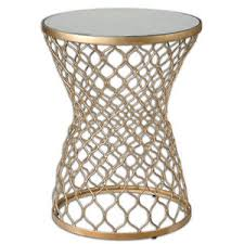 moroccan round coffee table luxe gold moroccan round side table open fretwork ornate