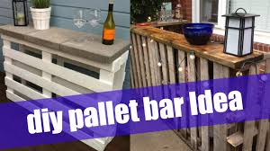 How To Make Patio Furniture Out Of Pallets by Diy Pallet Bar Youtube