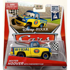 Disney Flag Disney Cars Toys Die Cast Dexter Hoover With Checkered Flag At