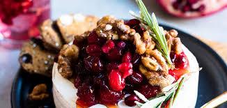 cranberry pomegranate baked brie kitchen confidante