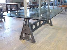 cast iron glass table vintage industrial cast iron factory table modern industrial