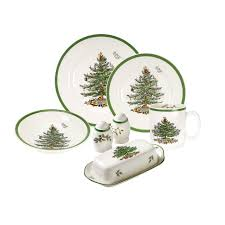 spode tree 52 set with mug and shallow cereal bowl