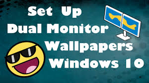 set up dual monitor wallpapers windows 10 youtube