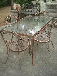 Retro Patio Chair Wrought Iron Patio Furniture Vintage