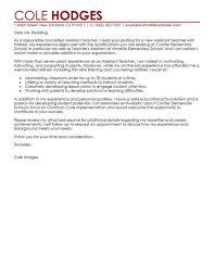 sample cover letter for teacher assistant sample of cover letter
