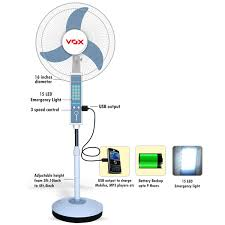 Good Quality Pedestal Fans Buy Vox Multipurpose Rechargeable Pedestal Fan With Usb Emergency
