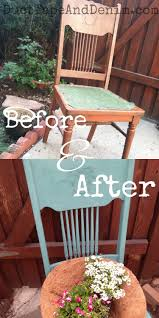 Repurposed Furniture Before And After by Repurposed Vintage Chair Planter