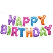dg foil multicolor happy birthday letter balloon banner kit