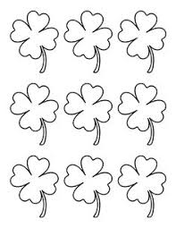 4 leaf clover template small four leaf clover clip 56