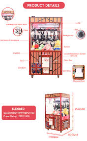 best selling doll toy arcade crane claw machine for sale in dubai