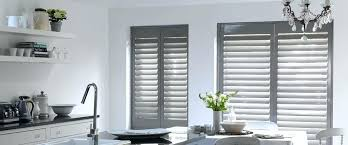 Kitchen Window Shutters Interior Kitchen Window Shutters St Grey Plantation Shutters Kitchen Window
