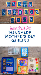 solar print art make this handmade mother u0027s day garland