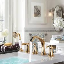 Copper Bathroom Faucet by Antique Golden Split Type Five Set Copper Bathtub Faucet