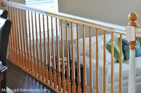 How To Stain Wood Banister How To Paint Stairwells My Frugal Adventures