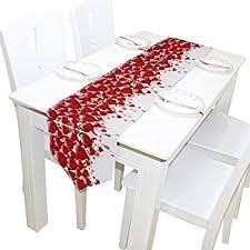 valentine s day table runner amazon com printed hearts valentine s day table runner 13 x 70
