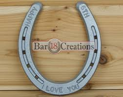 personalized horseshoes 6th anniversary gift personalized horseshoe heart iron