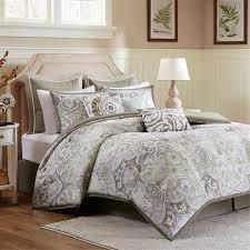 California King Comforter Set Amazon Com Harbor House Cecil Comforter Set Taupe Queen Home