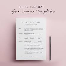 free simple resume template 10 free resume templates template free and college