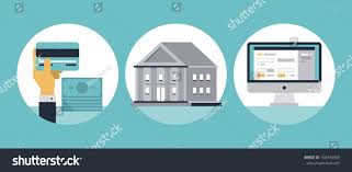 home design credit card flat design vector illustration icons set stock vector 168443969
