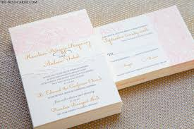 simply beautiful wedding invitation with lace design