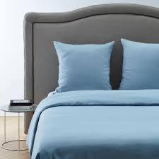 linge lit lin parure de lit carlina bleu madura