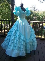 80s Prom Dress Vintage 80s Prom Dress Victorian Southern Belle Elsa Frozen Gown