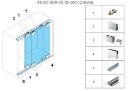 Glass Cabinet Door Hardware Specialty Door Hardware Xl Gc Series Sliding Glass Door Hardware