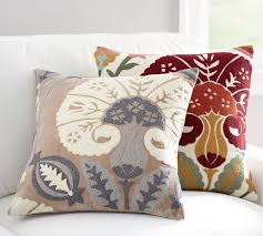eloise crewel embroidered pillow cover pottery barn