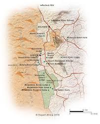 africa map kalahari desert namib naukluft national park map with the dunes and mountains