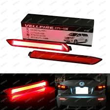 lexus es330 brake light replacement lexus taillight style red 3d optic led bumper reflector lights for