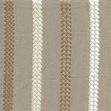 Stripe Drapery Fabric Cheverny Taupe Gray Tan Embroidered Striped Drapery Fabric