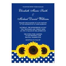 polka dot wedding invitations sunflowers blue and white polka dot wedding invitation card