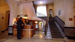 Hotel Reception Desk Reception Lobby Hotel Switzerland Hd Stock Video 889 072