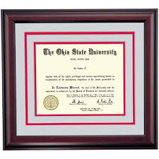 ohio state diploma frame osu picture frames images craft decoration ideas