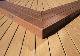 framing composite deck stair overhang vs flush home
