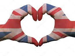 England Flag Colors Heart And Love Gesture In Great Britain Flag Colors By Hands Iso