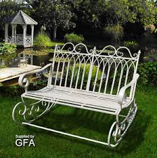 Garden Rocking Bench Garden Rocking Chair Shabby Chic Vintage Rocker