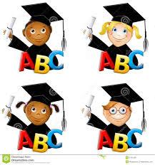 kindergarten graduation hats kindergarten kids graduates stock illustration illustration of