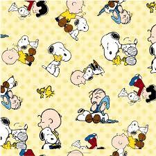 Halloween Fleece Fabric by Peanuts Snoopy And Friends Dot Fleece Yellow 59 60