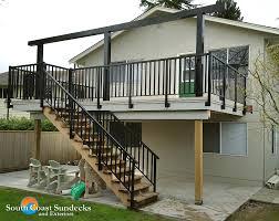 featured vinyl deck building aluminum u0026 glass deck cover