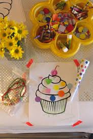 cupcakes u0026 confetti themed kids party activities and crafts