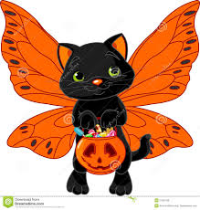 cute halloween cat royalty free stock photos image 27001328