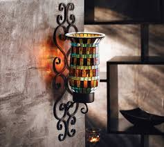 Metal Wall Sconces American Atelier Mosaic Glass And Metal Wall Lighting Sconce Jay
