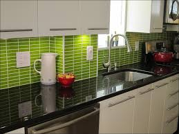 kitchen light grey glass backsplash porcelain tile backsplash
