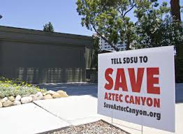 rift develops between sdsu residents over canyon construction