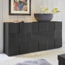 buffet design buffet bas design gris laqué brillant sofamobili