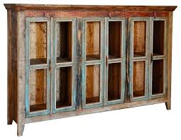 buffet cabinet with glass doors sideboard cabinet with glass doors rustic cabana 3 glass door buffet